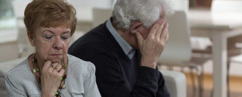 Older couple upset; Divorce After 50