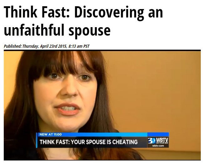 Angela McIlveen on WBTV talks about cheating spouses