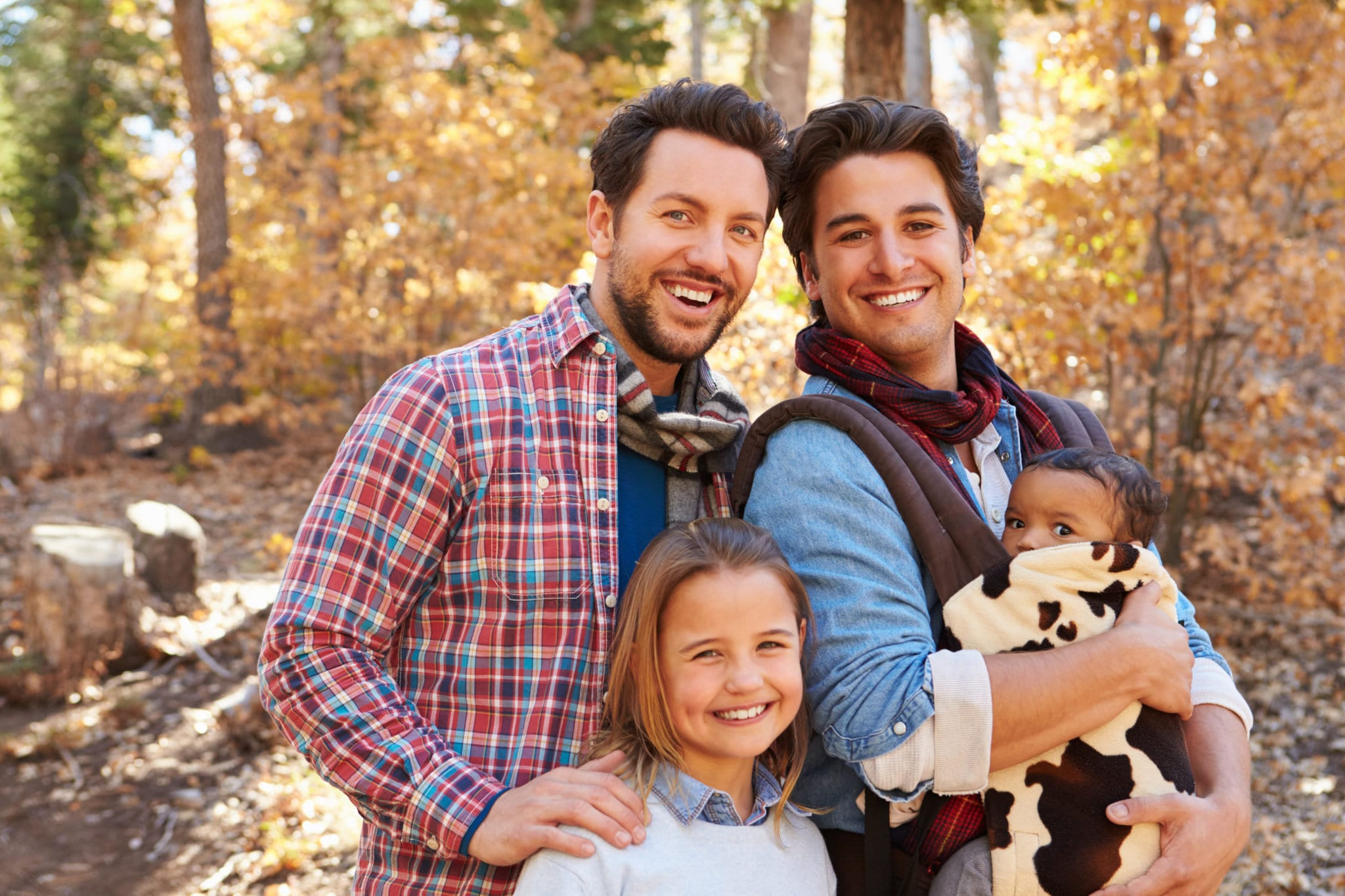 Gay Male Couple With Children - Surrogacy