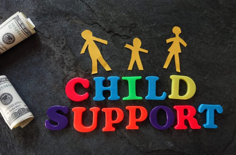 Letters spelling out child support